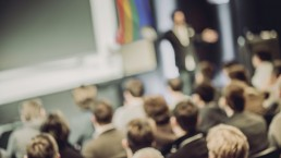 Blurred image of a LGBTQ Conference